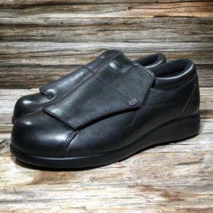 Drew Victoria Black Leather Slip On Orthopedic 7.5
